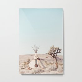 Desert, Rising Sun Tipi 1 Metal Print