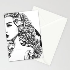 Flora (Line Art) Stationery Cards