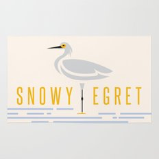 Snowy Egret Rug