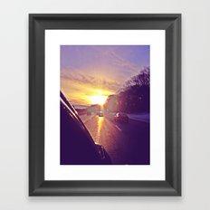 Sunset Blv. Framed Art Print