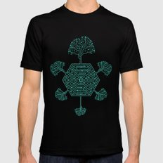 Natural Maze 2X-LARGE Black Mens Fitted Tee