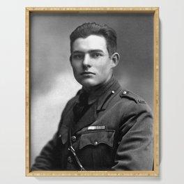 Ernest Hemingway in Uniform, 1918 Serving Tray