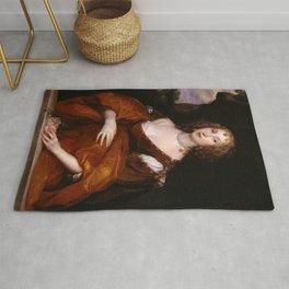 """Sir """"Portrait of Mary Hill, Lady Killigrew"""" Rug"""