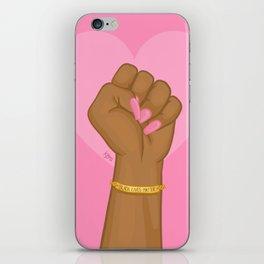 Black Lives Matter Power Fist iPhone Skin