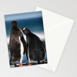 A touching moment Stationery Cards