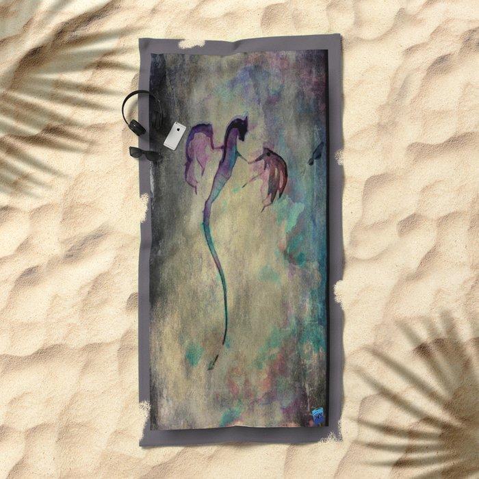 The Magic Dragon  Beach Towel
