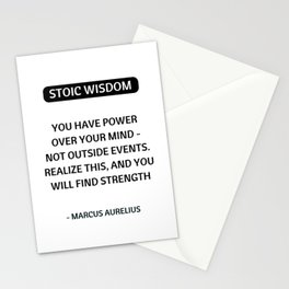 Stoic Philosophy Quotes - You have power over your mind - Marcus Aurelius Stationery Cards