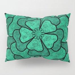 Green flower Pillow Sham