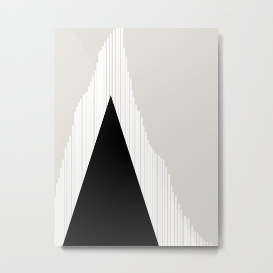 Abstract Mountain Metal Print