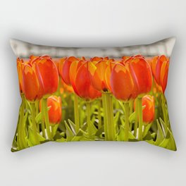 Tulips standing tall Rectangular Pillow