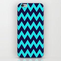 Chevron Navy Turquoise iPhone & iPod Skin