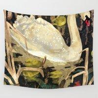 swan Wall Tapestries featuring Swan by Lara Paulussen