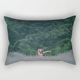 Blurry Greens Rectangular Pillow
