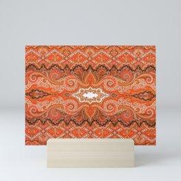 Cashmere  Antique Parisian French Shawl Print Mini Art Print