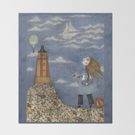 Ship in the Sky Throw Blanket