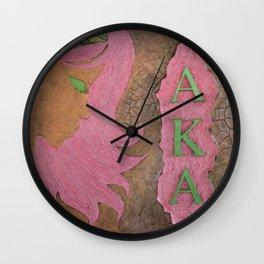 Alpha Kappa Alpha Sister In Profile I Wall Clock