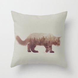 Cat: Maine Coon II Throw Pillow