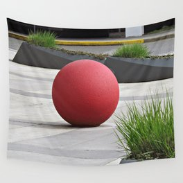 Round and Red Wall Tapestry