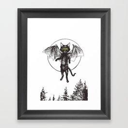 Batcat Rises Framed Art Print