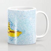 yellow submarine Mugs featuring My Yellow Submarine by Cris Couto