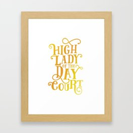High Lady Day Court - ACOTAR Framed Art Print