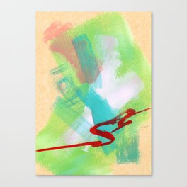 Modern Abstract Painting - Believe Your Paths no.4 Canvas Print