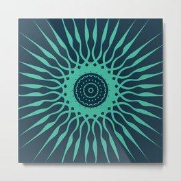 The Spark | Light Green on Dark Background Metal Print