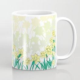 Abstract narcissi border Coffee Mug