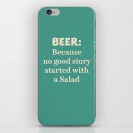 Beer illustration quote, vintage Pub sign, Restaurant, fine art, mancave, food, drink, private club iPhone Skin