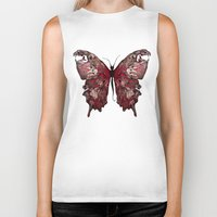 gothic Biker Tanks featuring Gothic Butterfly by baba yagada