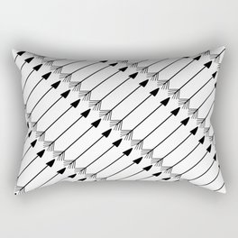 Tribal Art Arrows, Black and White Pattern Rectangular Pillow