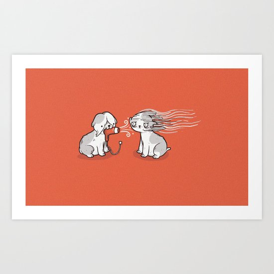 Blow dry Art Print