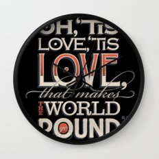 Oh, 'Tis Love Wall Clock