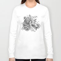 henna Long Sleeve T-shirts featuring Henna Peacock by Brady Dempsey