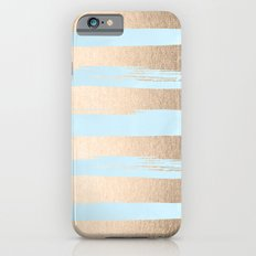 Paint Stripes Gold Tropical Ocean Sea Turquoise iPhone 6s Slim Case