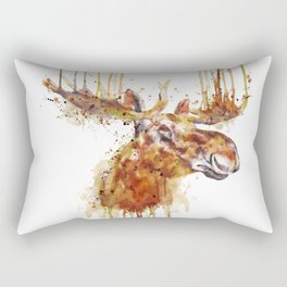 Moose Head Rectangular Pillow