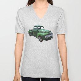 Green 1951 Ford F-1 Pickup Truck  Unisex V-Neck