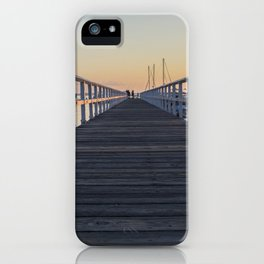 pier during sunset iPhone Case