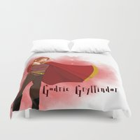 gryffindor Duvet Covers featuring Godric Gryffindor by Hailey Del Rio