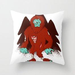 Zombie Big Foot Throw Pillow