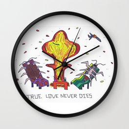 True Love Never Dies Wall Clock