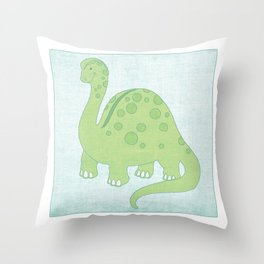 Deeno the Dino Throw Pillow