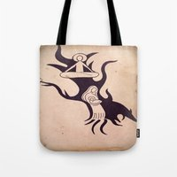 mother Tote Bags featuring Mother by Gerard Marinaccio