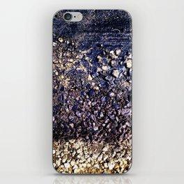 Old blue asphalt iPhone Skin