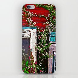 Window Flowers iPhone Skin