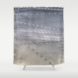 Aluminium Aircraft Skin Texture Shower Curtain