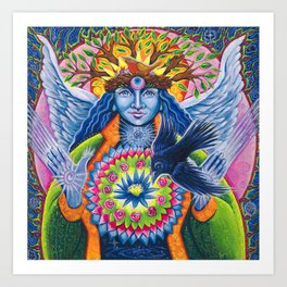 Estrella de la Luz - Angel of New Beginnings Art Print