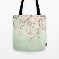 chinese Tote Bags featuring Chinese Spring by Katayoon Photography & Design