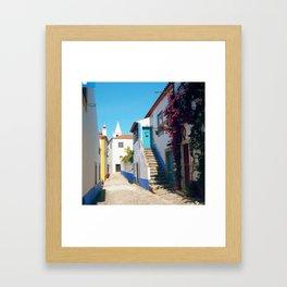 Obidos, Portugal (RR 175) Analog 6x6 odak Ektar 100 Framed Art Print