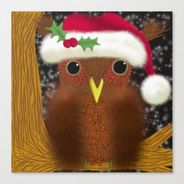 The Christmas Eve Owl Canvas Print